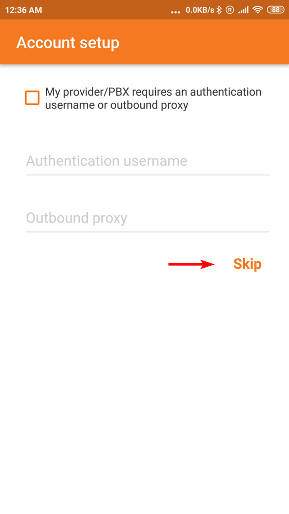 Zoiper Connection Settings Interface